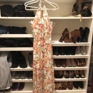 Show Me Your MuMu Maxi Halter Floral Dress